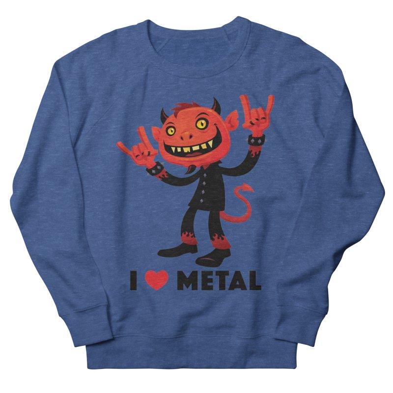 I Love Metal Devil Women's French Terry Sweatshirt by Fizzgig's Artist Shop