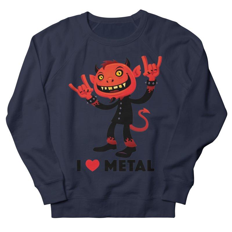 I Love Metal Devil Men's French Terry Sweatshirt by Fizzgig's Artist Shop