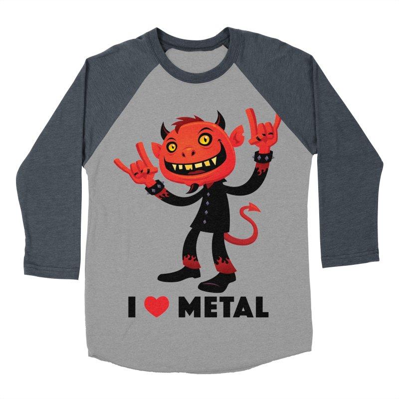 I Love Metal Devil Women's Baseball Triblend Longsleeve T-Shirt by Fizzgig's Artist Shop