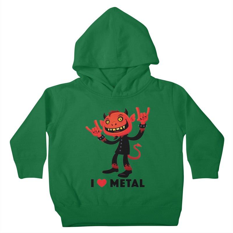 I Love Metal Devil Kids Toddler Pullover Hoody by Fizzgig's Artist Shop
