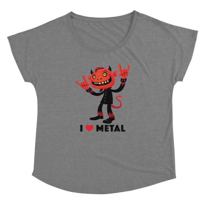 I Love Metal Devil Women's Dolman Scoop Neck by Fizzgig's Artist Shop
