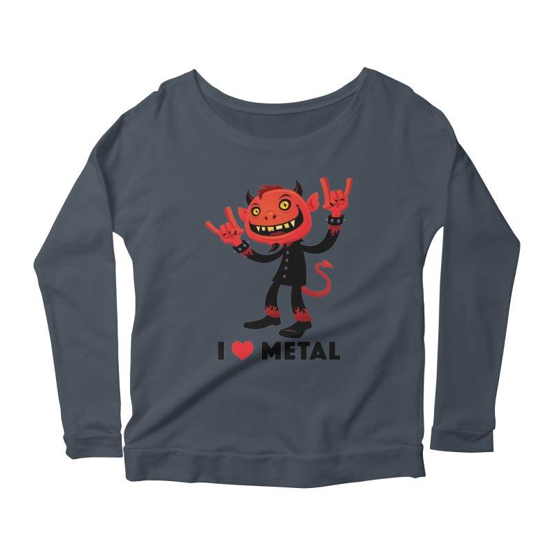 I Love Metal Devil Women's Scoop Neck Longsleeve T-Shirt by Fizzgig's Artist Shop