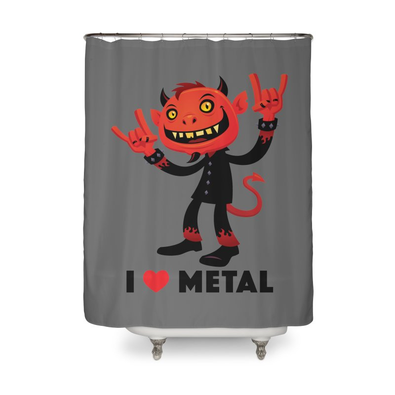 I Love Metal Devil Home Shower Curtain by Fizzgig's Artist Shop