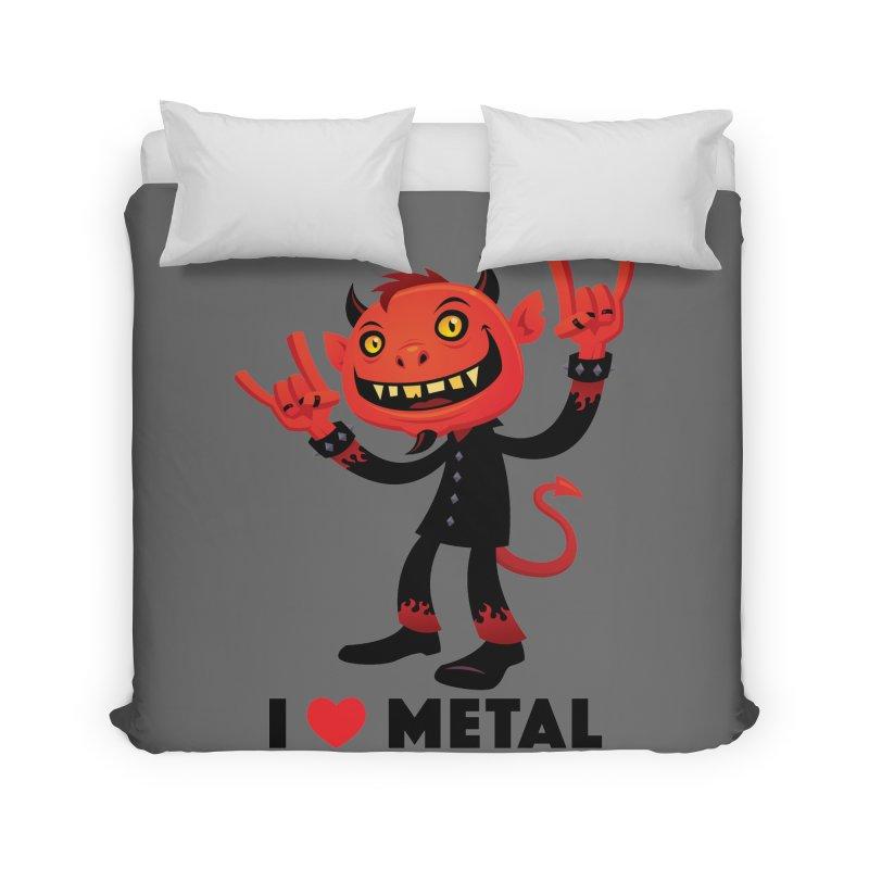 I Love Metal Devil Home Duvet by Fizzgig's Artist Shop