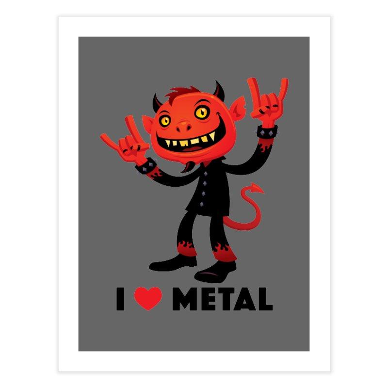 I Love Metal Devil Home Fine Art Print by Fizzgig's Artist Shop