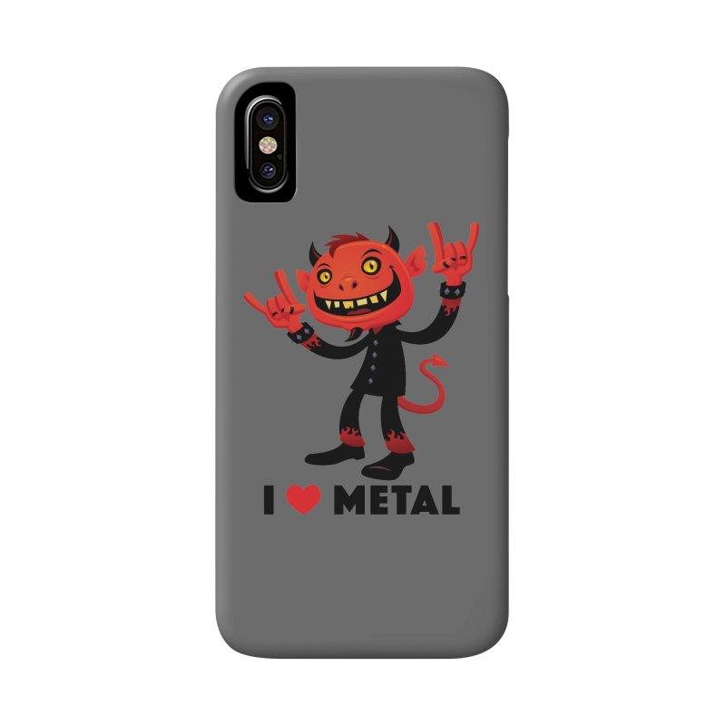 I Love Metal Devil Accessories Phone Case by Fizzgig's Artist Shop
