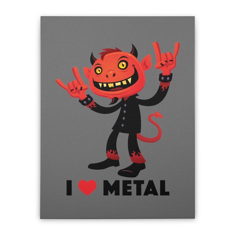 I Love Metal Devil Home Stretched Canvas by Fizzgig's Artist Shop