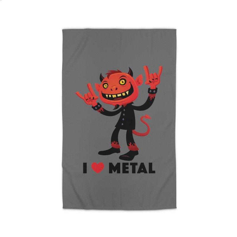 I Love Metal Devil Home Rug by Fizzgig's Artist Shop