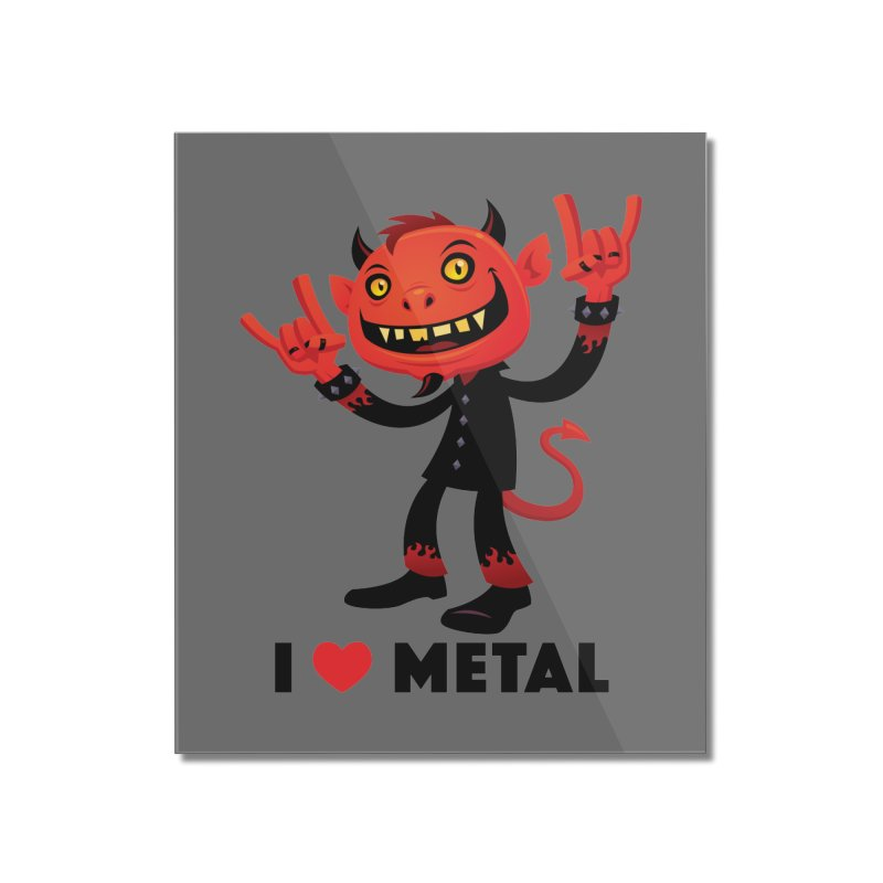I Love Metal Devil Home Mounted Acrylic Print by Fizzgig's Artist Shop