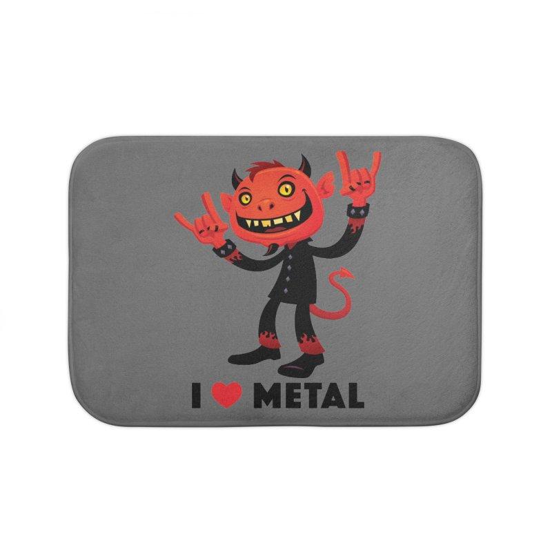 I Love Metal Devil Home Bath Mat by Fizzgig's Artist Shop