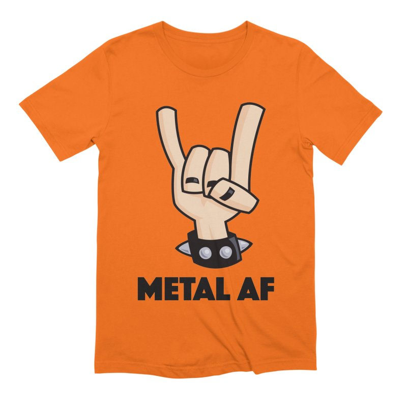 Metal AF Devil Horns Men's Extra Soft T-Shirt by Fizzgig's Artist Shop