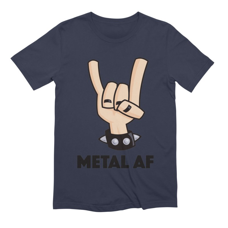 Metal AF Devil Horns Men's Extra Soft T-Shirt by Fizzgig's Artist Shop