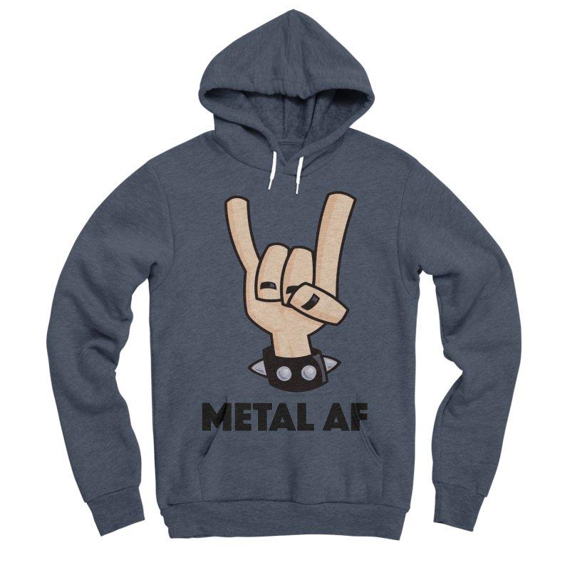 Metal AF Devil Horns Men's Sponge Fleece Pullover Hoody by Fizzgig's Artist Shop