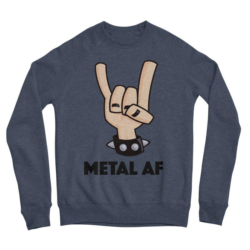 Metal AF Devil Horns Men's Sponge Fleece Sweatshirt by Fizzgig's Artist Shop