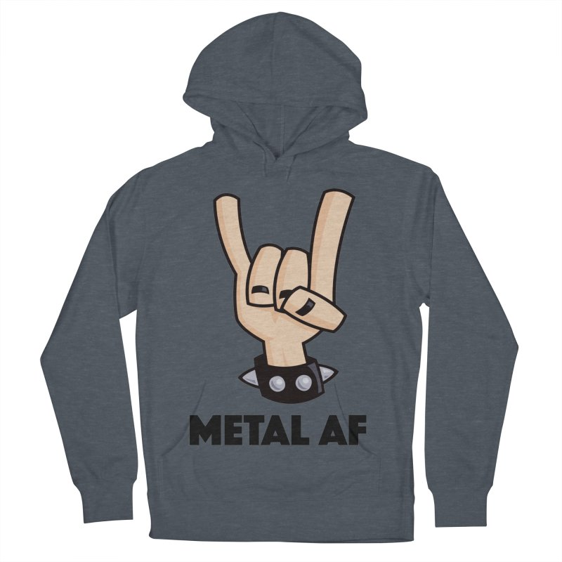 Metal AF Devil Horns Women's French Terry Pullover Hoody by Fizzgig's Artist Shop