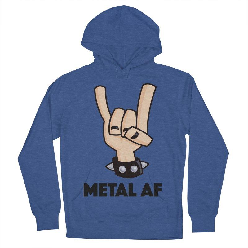 Metal AF Devil Horns Men's French Terry Pullover Hoody by Fizzgig's Artist Shop
