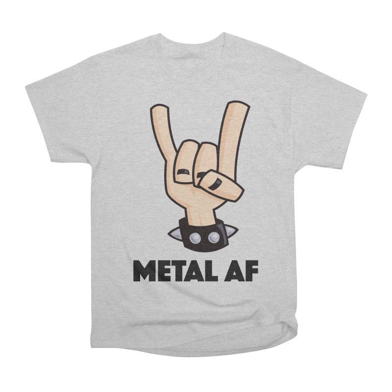 Metal AF Devil Horns Men's Heavyweight T-Shirt by Fizzgig's Artist Shop
