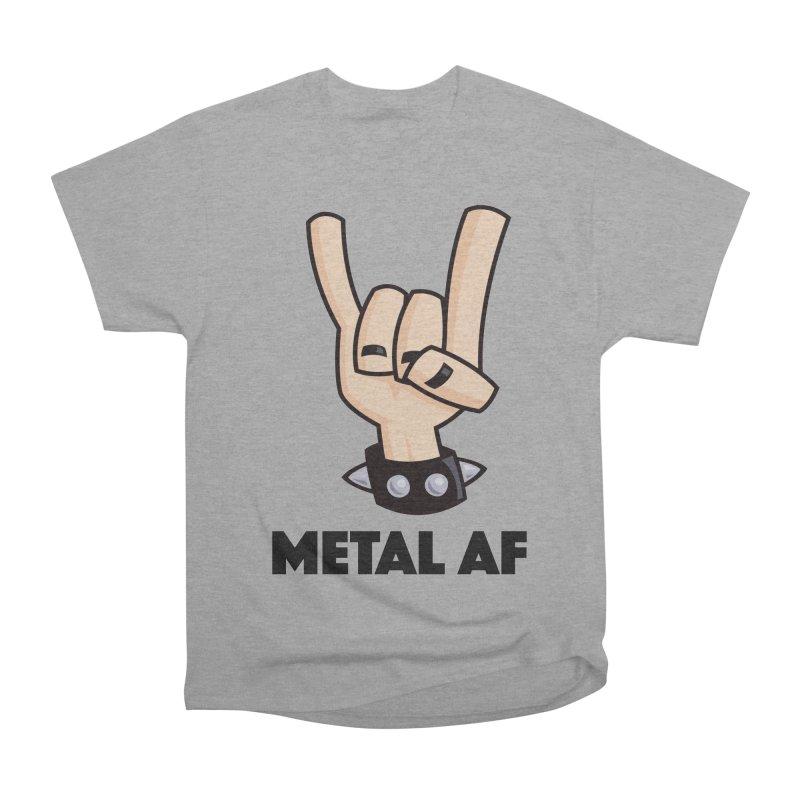 Metal AF Devil Horns Women's Heavyweight Unisex T-Shirt by Fizzgig's Artist Shop