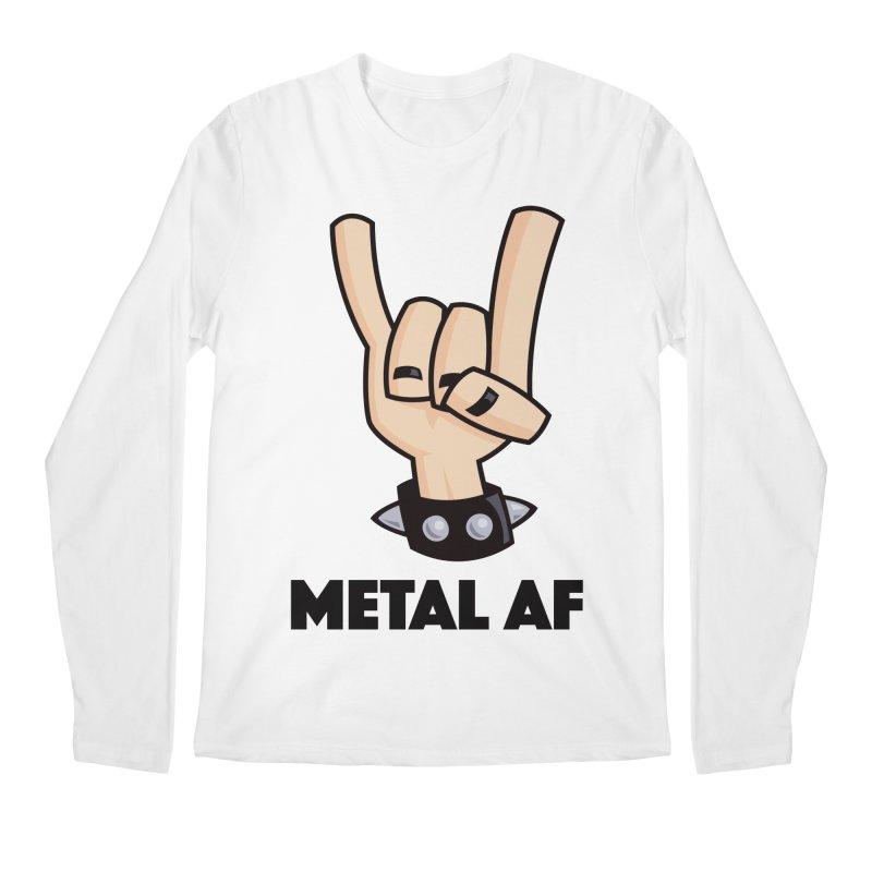 Metal AF Devil Horns Men's Regular Longsleeve T-Shirt by Fizzgig's Artist Shop