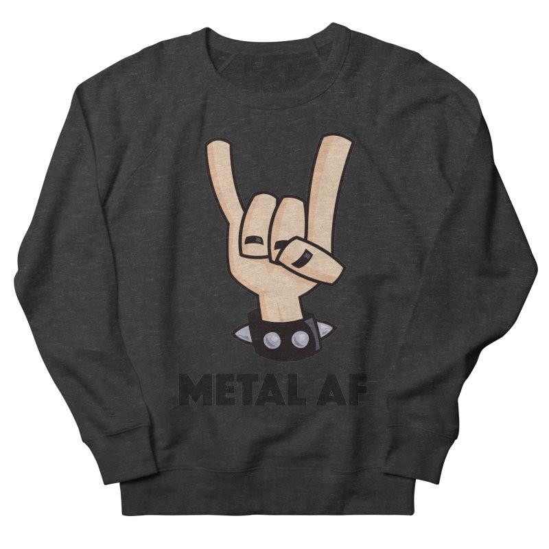 Metal AF Devil Horns Women's French Terry Sweatshirt by Fizzgig's Artist Shop