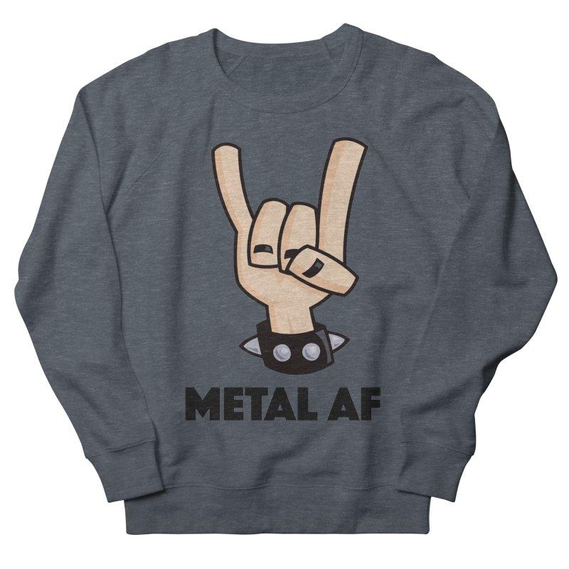 Metal AF Devil Horns Men's French Terry Sweatshirt by Fizzgig's Artist Shop