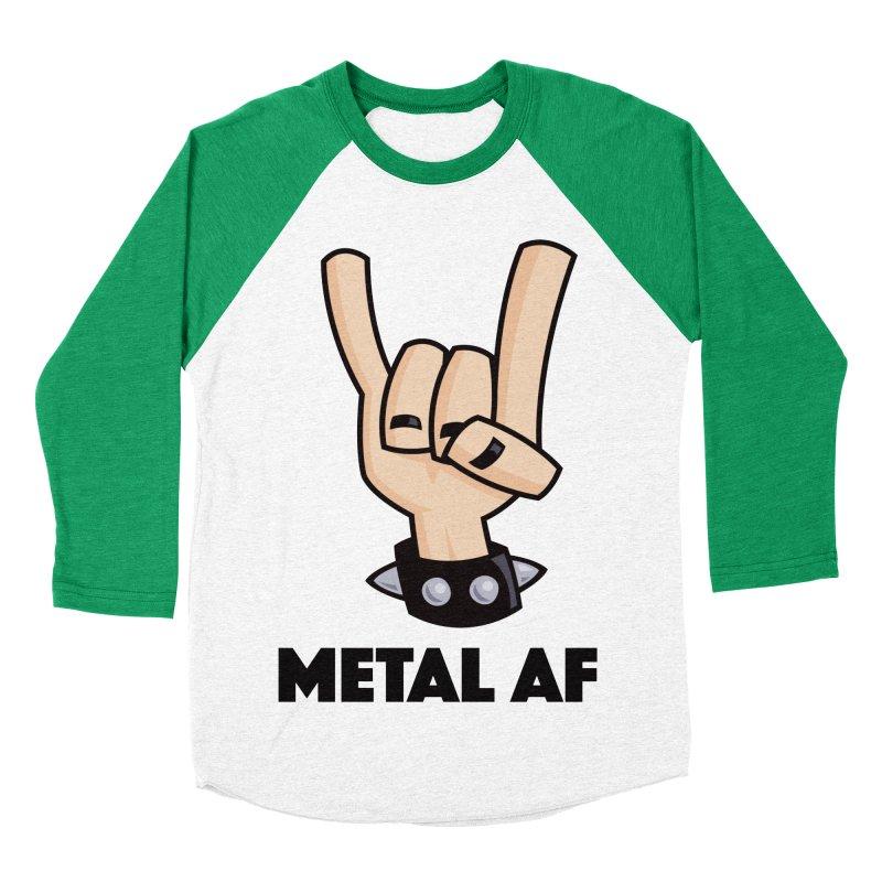 Metal AF Devil Horns Women's Baseball Triblend Longsleeve T-Shirt by Fizzgig's Artist Shop