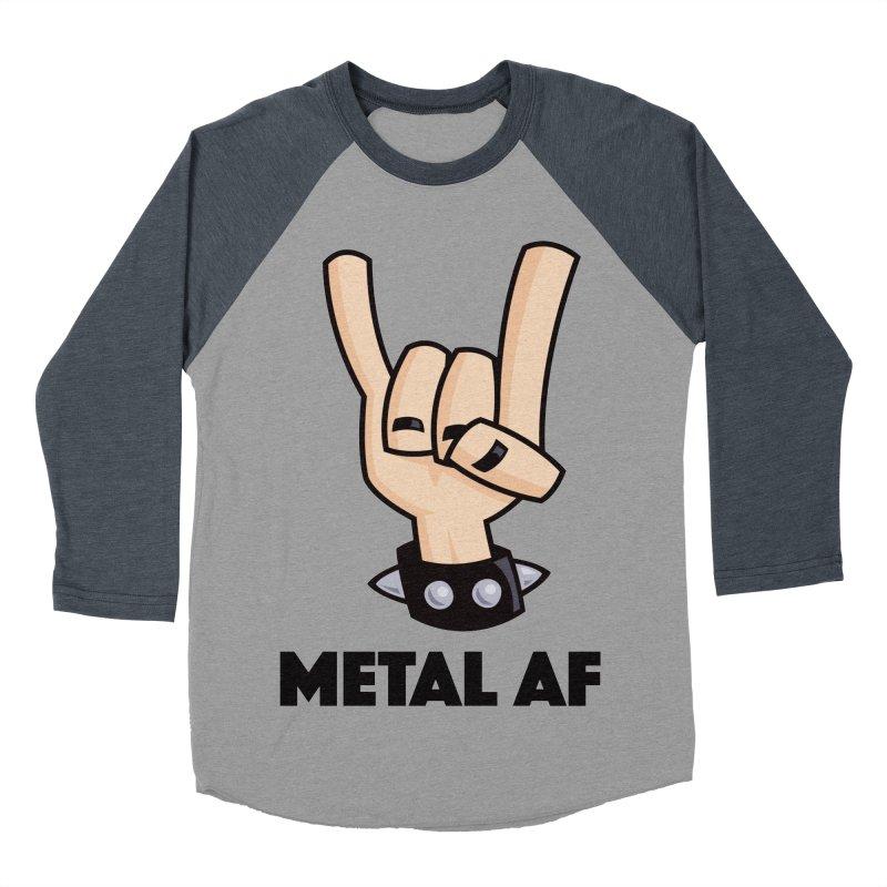 Metal AF Devil Horns Men's Baseball Triblend Longsleeve T-Shirt by Fizzgig's Artist Shop