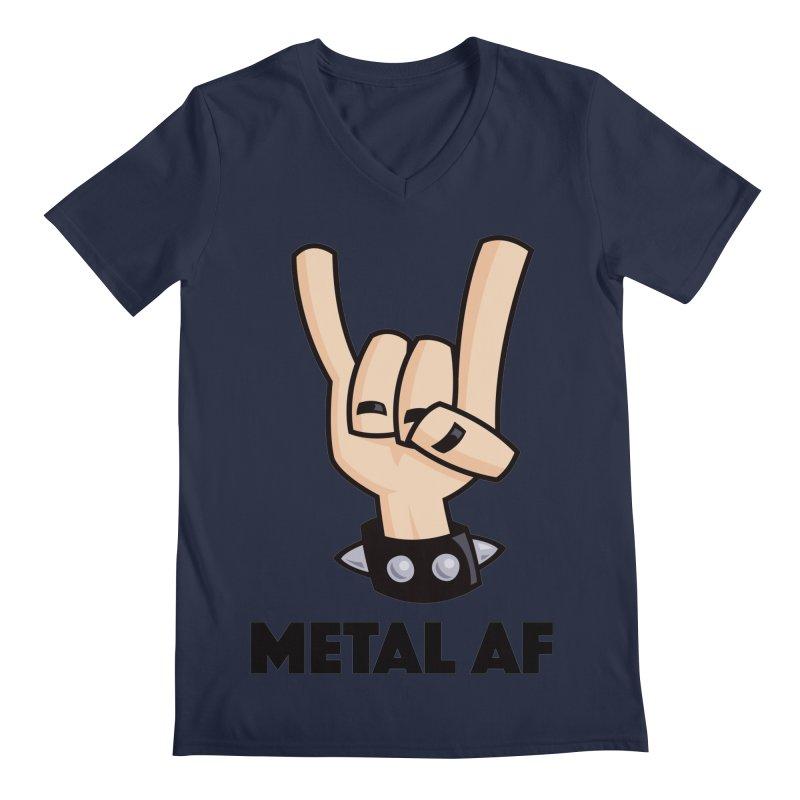 Metal AF Devil Horns Men's Regular V-Neck by Fizzgig's Artist Shop