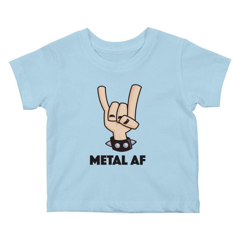 Metal AF Devil Horns Kids Baby T-Shirt by Fizzgig's Artist Shop