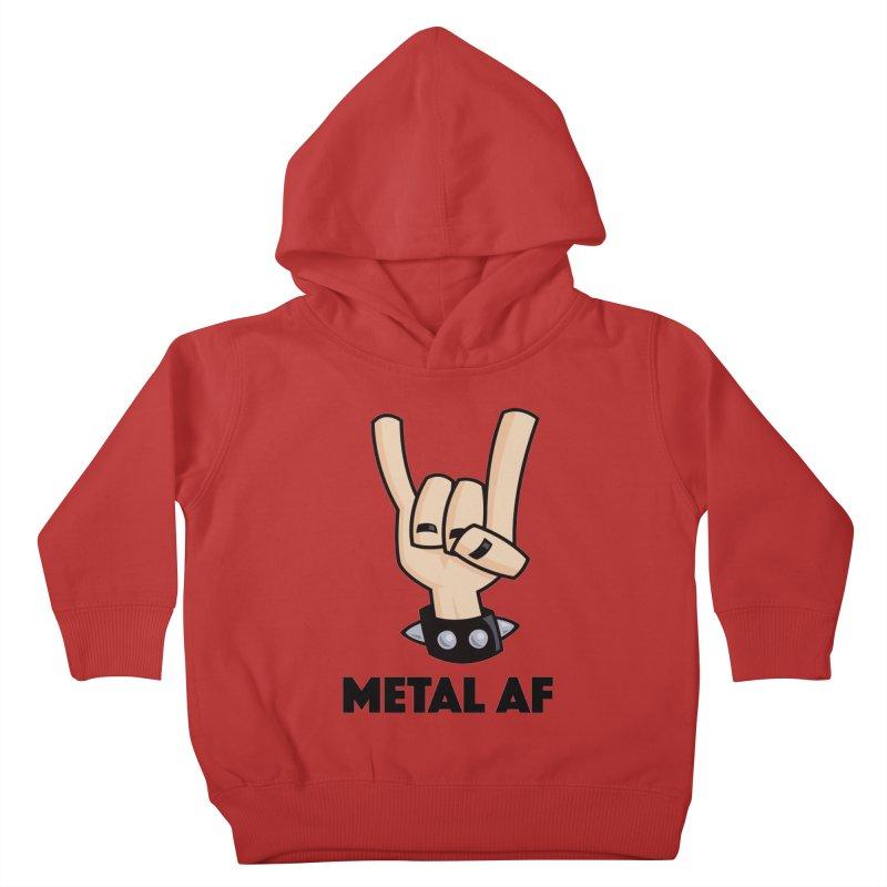 Metal AF Devil Horns Kids Toddler Pullover Hoody by Fizzgig's Artist Shop