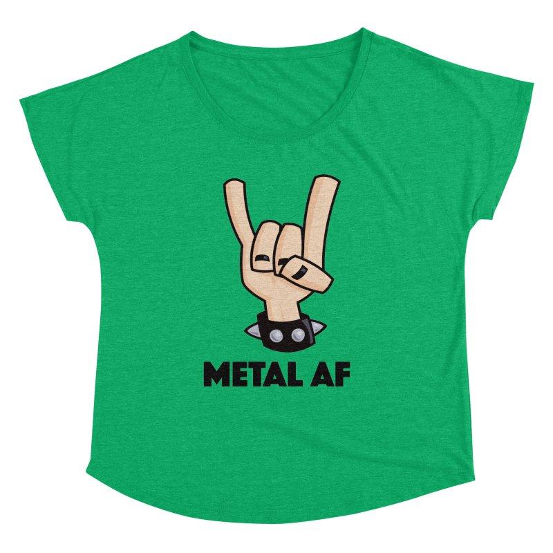 Metal AF Devil Horns Women's Dolman Scoop Neck by Fizzgig's Artist Shop