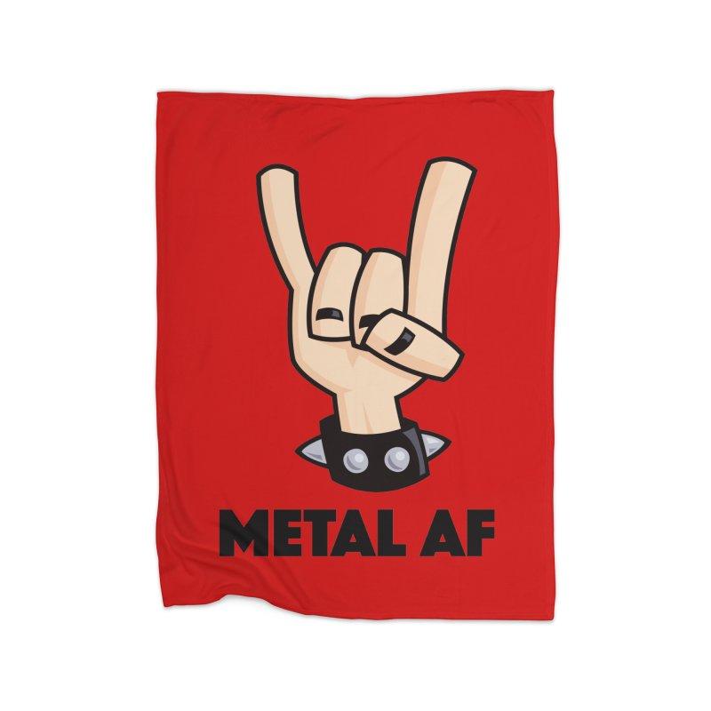 Metal AF Devil Horns Home Blanket by Fizzgig's Artist Shop