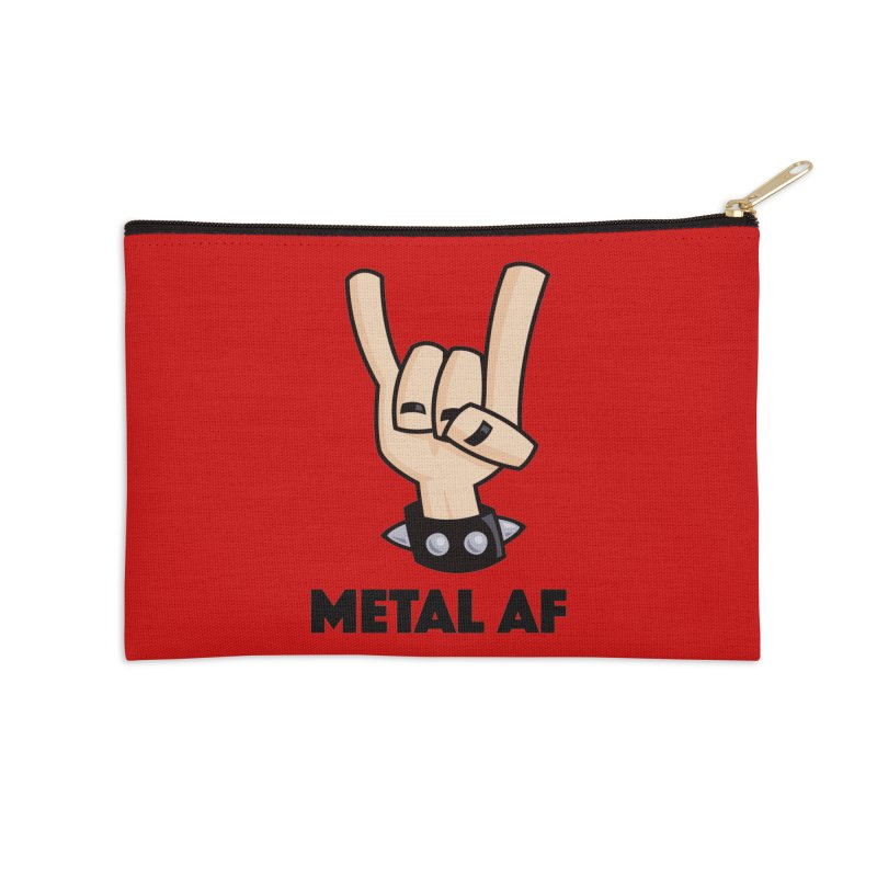 Metal AF Devil Horns Accessories Zip Pouch by Fizzgig's Artist Shop