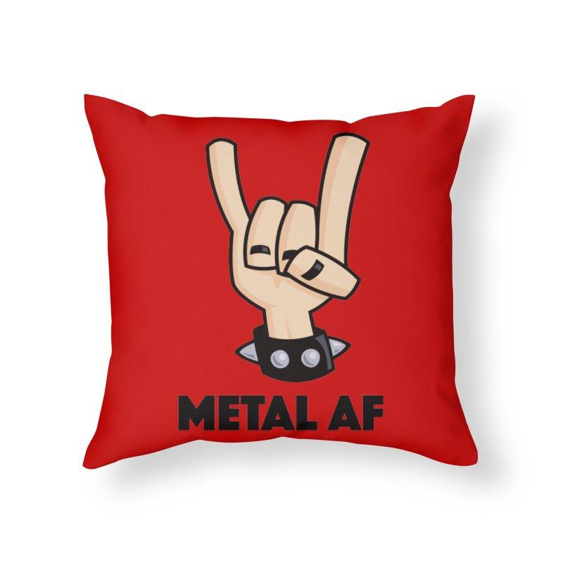 Metal AF Devil Horns Home Throw Pillow by Fizzgig's Artist Shop