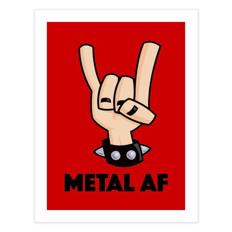 Metal AF Devil Horns Home Fine Art Print by Fizzgig's Artist Shop
