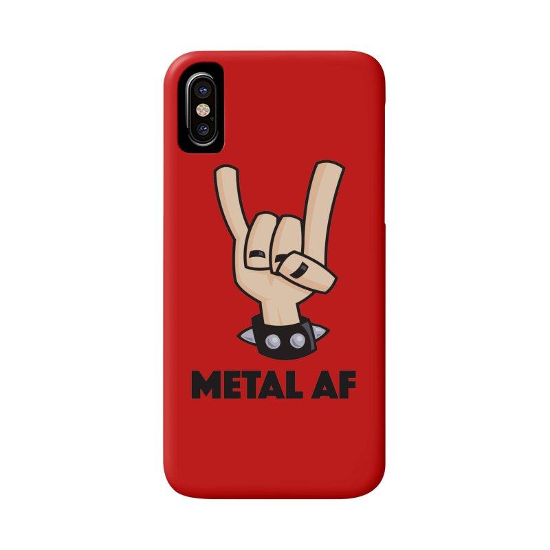 Metal AF Devil Horns Accessories Phone Case by Fizzgig's Artist Shop