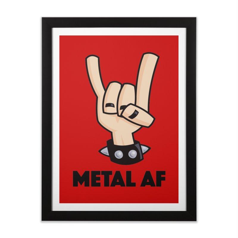 Metal AF Devil Horns Home Framed Fine Art Print by Fizzgig's Artist Shop