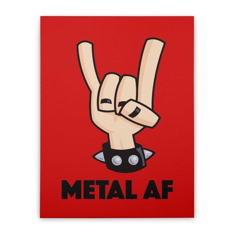 Metal AF Devil Horns Home Stretched Canvas by Fizzgig's Artist Shop