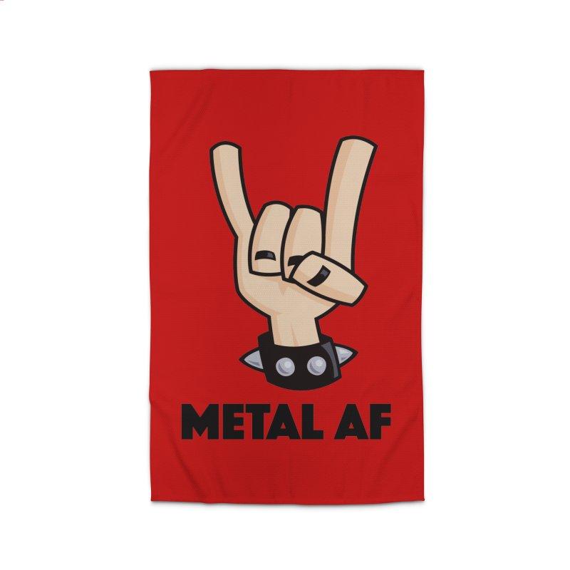 Metal AF Devil Horns Home Rug by Fizzgig's Artist Shop