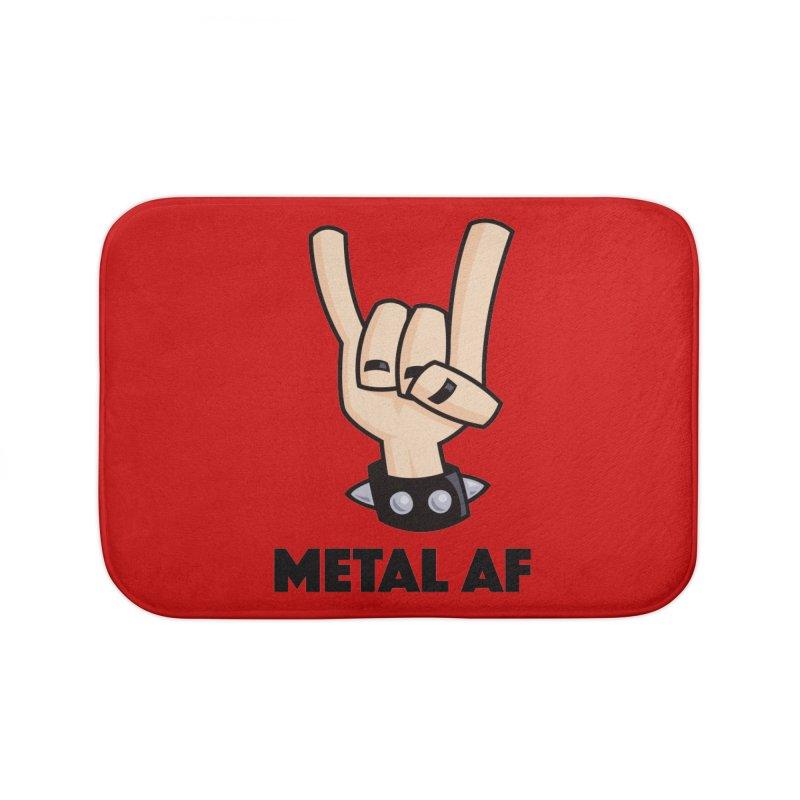 Metal AF Devil Horns Home Bath Mat by Fizzgig's Artist Shop