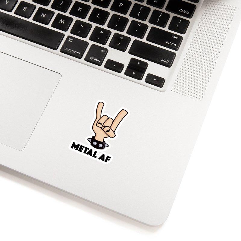 Metal AF Devil Horns Accessories Sticker by Fizzgig's Artist Shop