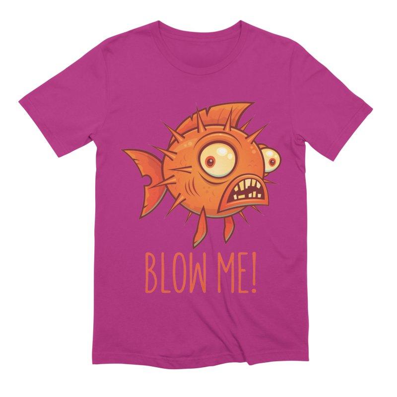 Blow Me Porcupine Blowfish Men's Extra Soft T-Shirt by Fizzgig's Artist Shop