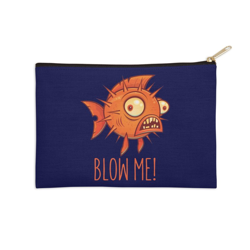 Blow Me Porcupine Blowfish Accessories Zip Pouch by Fizzgig's Artist Shop