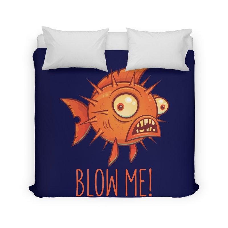 Blow Me Porcupine Blowfish Home Duvet by Fizzgig's Artist Shop