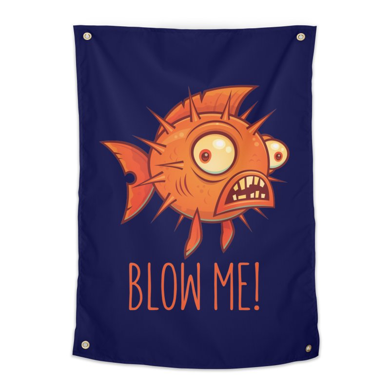 Blow Me Porcupine Blowfish Home Tapestry by Fizzgig's Artist Shop