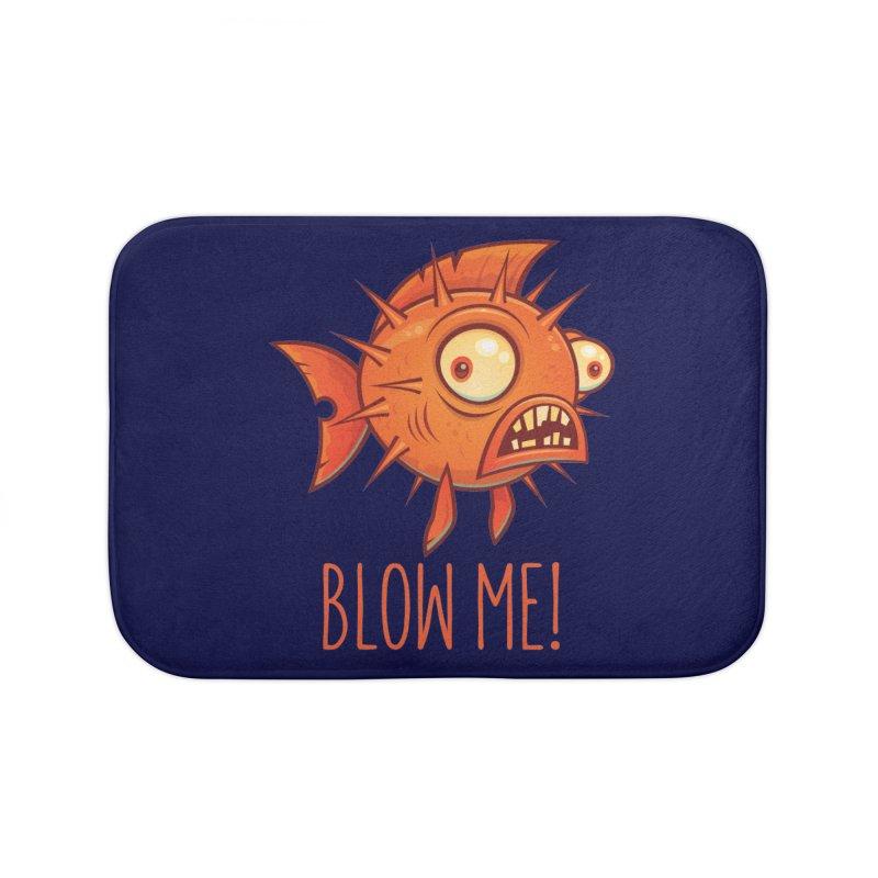 Blow Me Porcupine Blowfish Home Bath Mat by Fizzgig's Artist Shop