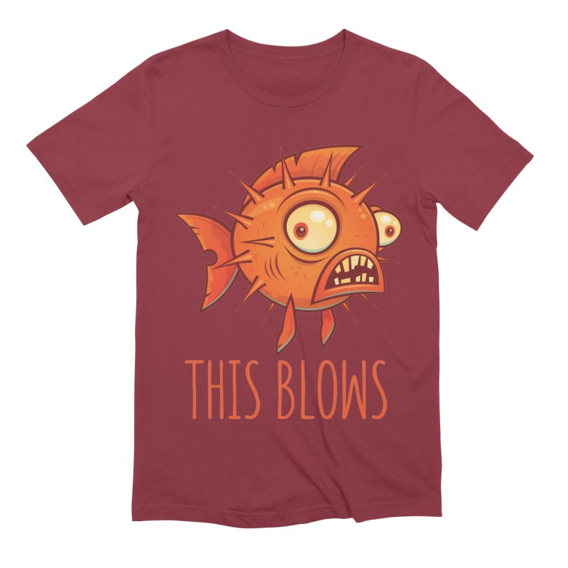 This Blows Porcupine Blowfish Men's Extra Soft T-Shirt by Fizzgig's Artist Shop