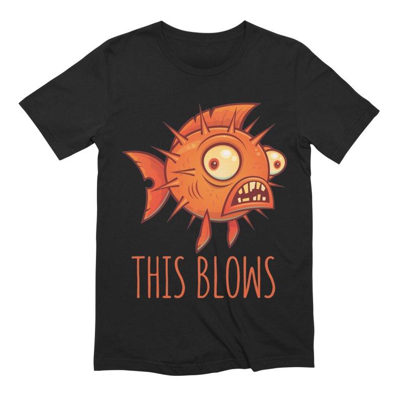 This Blows Porcupine Blowfish Men's Extra Soft T-Shirt by Fizzgig's Artist Shop