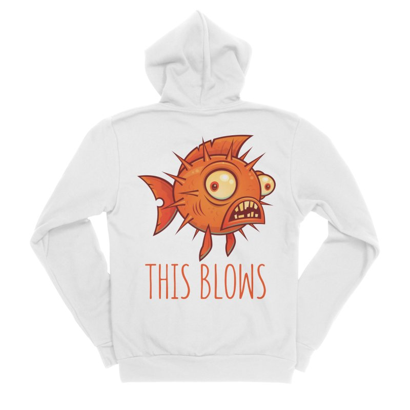This Blows Porcupine Blowfish Men's Sponge Fleece Zip-Up Hoody by Fizzgig's Artist Shop