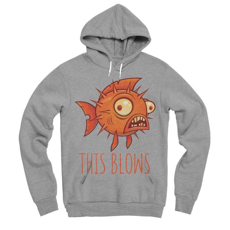 This Blows Porcupine Blowfish Men's Sponge Fleece Pullover Hoody by Fizzgig's Artist Shop